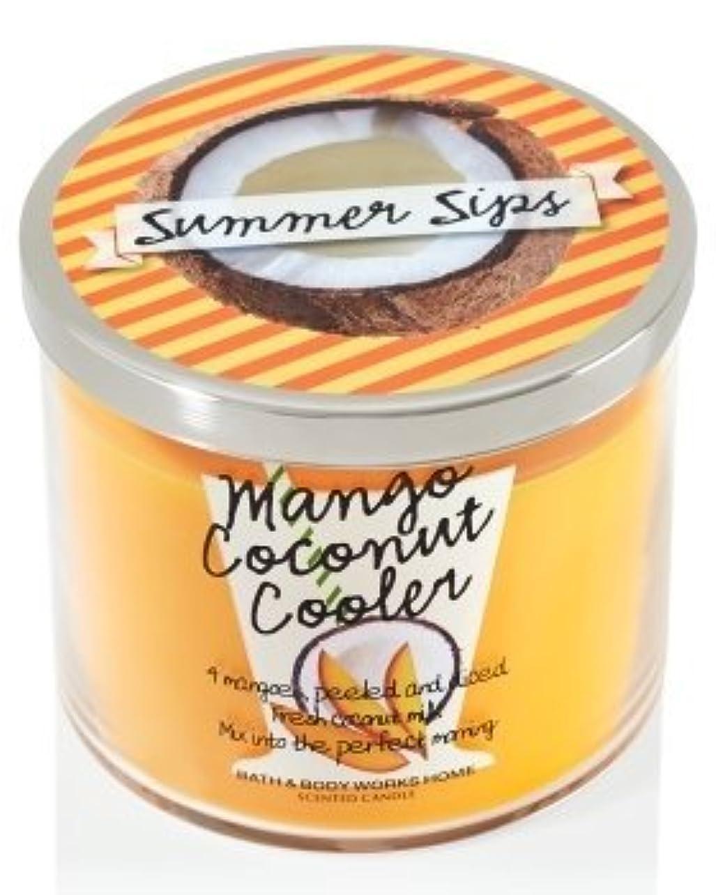性格スリップどちらもBath & Body Works 3 Wick Candle Summer Sips Mango Coconut Cooler by Bath & Body Works