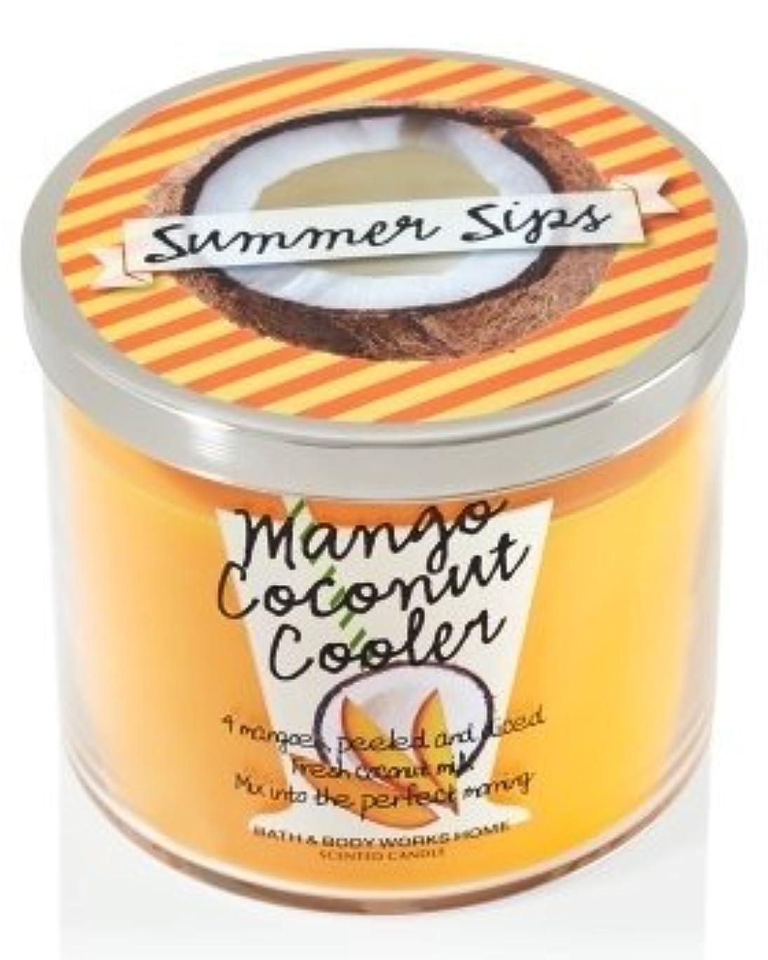 天減少無人Bath & Body Works 3 Wick Candle Summer Sips Mango Coconut Cooler by Bath & Body Works