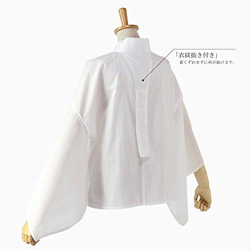 夏用 半襦袢 絽半衿 平絽袖 衣紋抜き 日本製 (M)