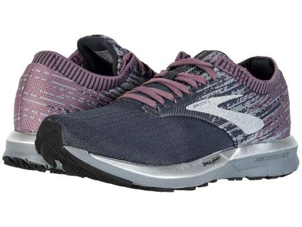 モッキンバード歴史家開拓者Brooks(ブルックス) レディース 女性用 シューズ 靴 スニーカー 運動靴 Ricochet - Black/Grey/Arctic Dusk [並行輸入品]
