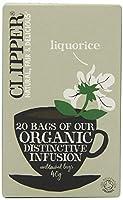 Clipper Teas - Liquorice Organic Distinctive Infusion - 20 Bags (Case of 6)