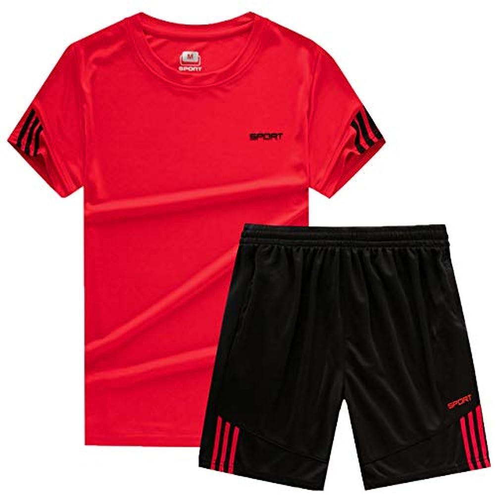 分析消化器照らす[ココチエ] スポーツウェア メンズ 半袖 短パン 上下 tシャツ 大きめ セットアップ 部屋着 夏