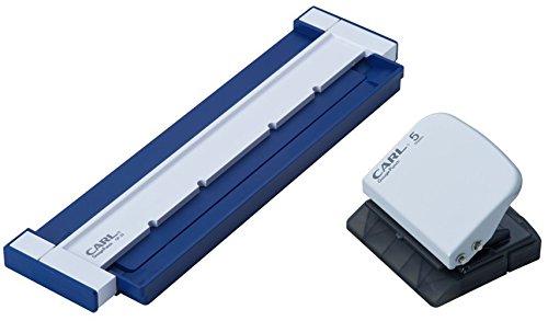 カール事務器 ルーズリーフパンチ ゲージパンチ A5/B6対応 20穴 5枚 ブルー GP-20-B