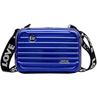 Women's Shoulder Messenger Crossbody Bags Mini Hard Suitcase Wristlet Crossbody Handbag Storage Box Portable Handbag Cosmetic Case