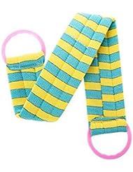 2枚のボディクリーニングのバスベルトタオルの剥離のバスベルト、青い黄色