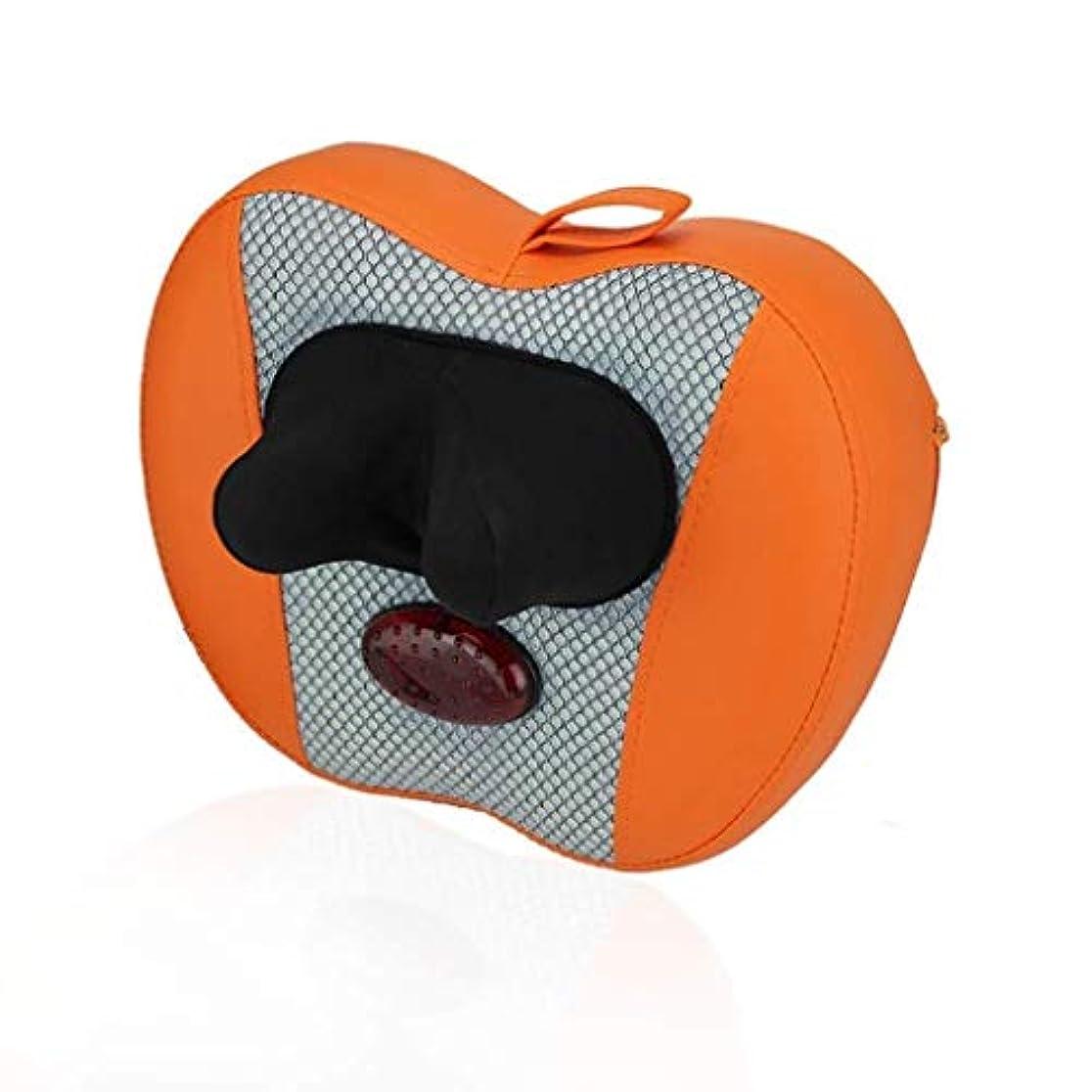日記再発する拡大するマッサージャー、首/背中のマッサージ枕、電動マッサージクッション、首、ウエスト、肩暖房ディープニーディングマッサージ枕、筋肉痛の緩和
