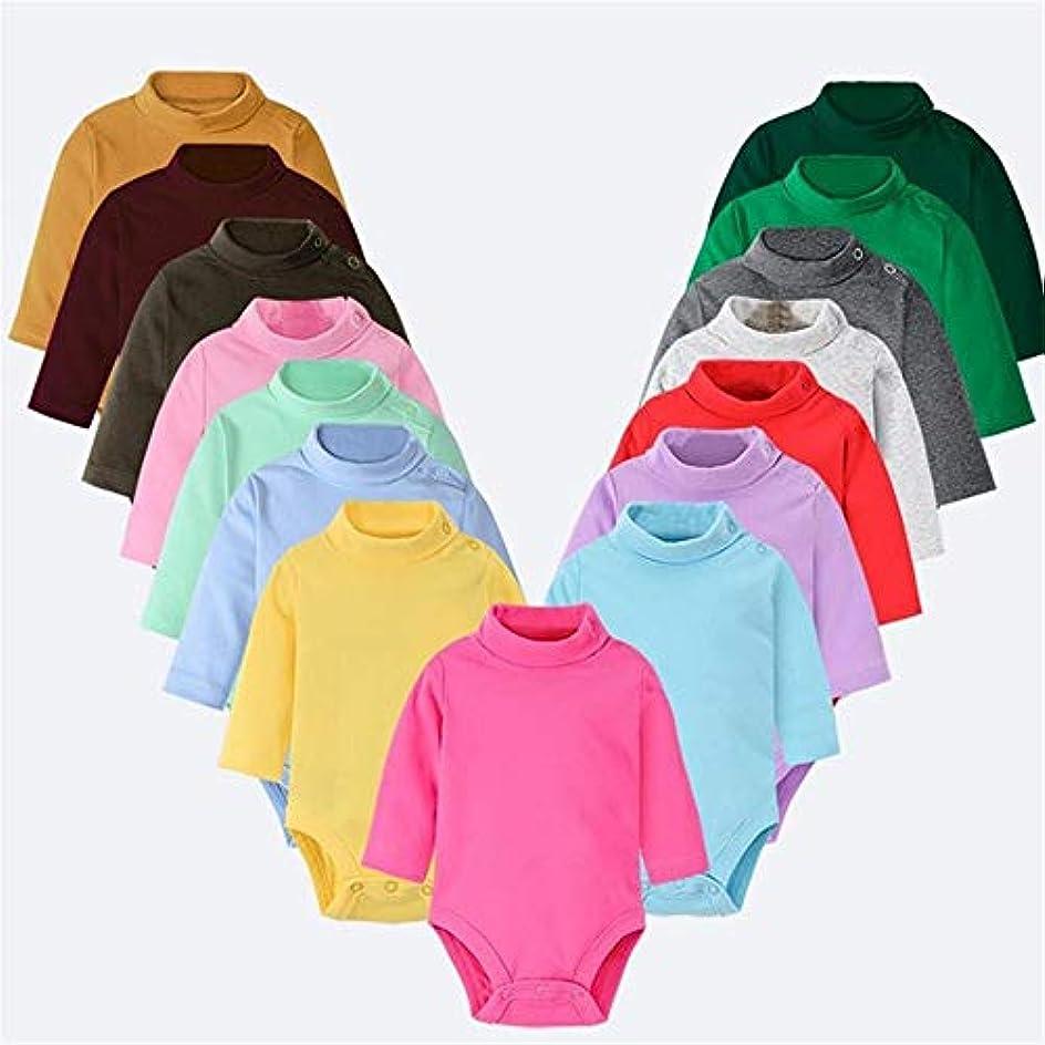 英語の授業があります横にピルファーベビーロンパース冬春新生児服ユニセックス長袖キッズボーイズスーツの女の赤ちゃんの服服 (Color : Lemon yellow, Kid Size : 18M)