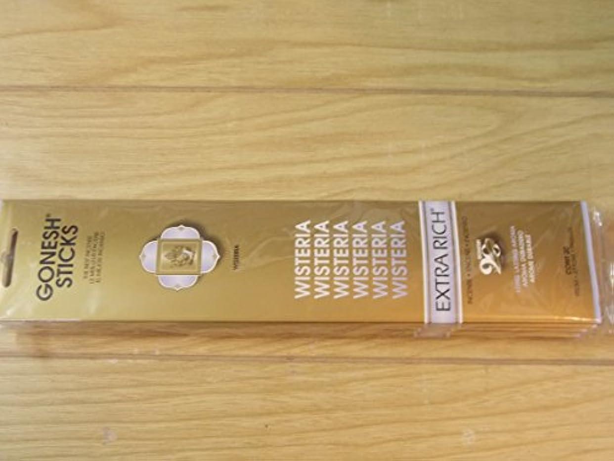 悪性のカートリッジ教Gonesh Incense Sticks Wisteria 2パックの20 Sticks