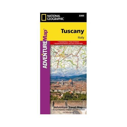 ナショナルジオグラフィックマップAD00003305トスカーナアドベンチャー地図