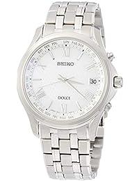 [ドルチェ]DOLCE 腕時計 ドルチェ ソーラー電波 チタンモデル プラチナダイヤシールド 白文字盤 カーブサファイアガラス SADZ201 メンズ