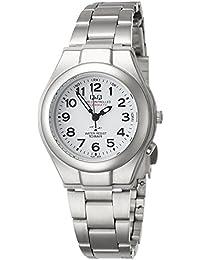 [シチズン キューアンドキュー]CITIZEN Q&Q 腕時計 電波時計 ソーラー アナログ 10気圧防水 ブレスレット ホワイト HJ01-204 レディース