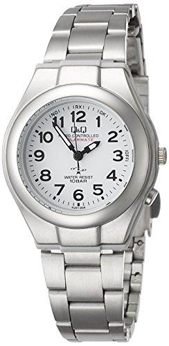 Q Q キューアンドキュー ソーラー電源機能搭載 レディース電波腕時計 ホワイト 装身具 婦人装身品 婦人腕時計 HJ01‐204
