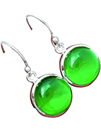 LoveGem Green Onyx Earrings ,グリーンオニキス , シルバー925リング ,