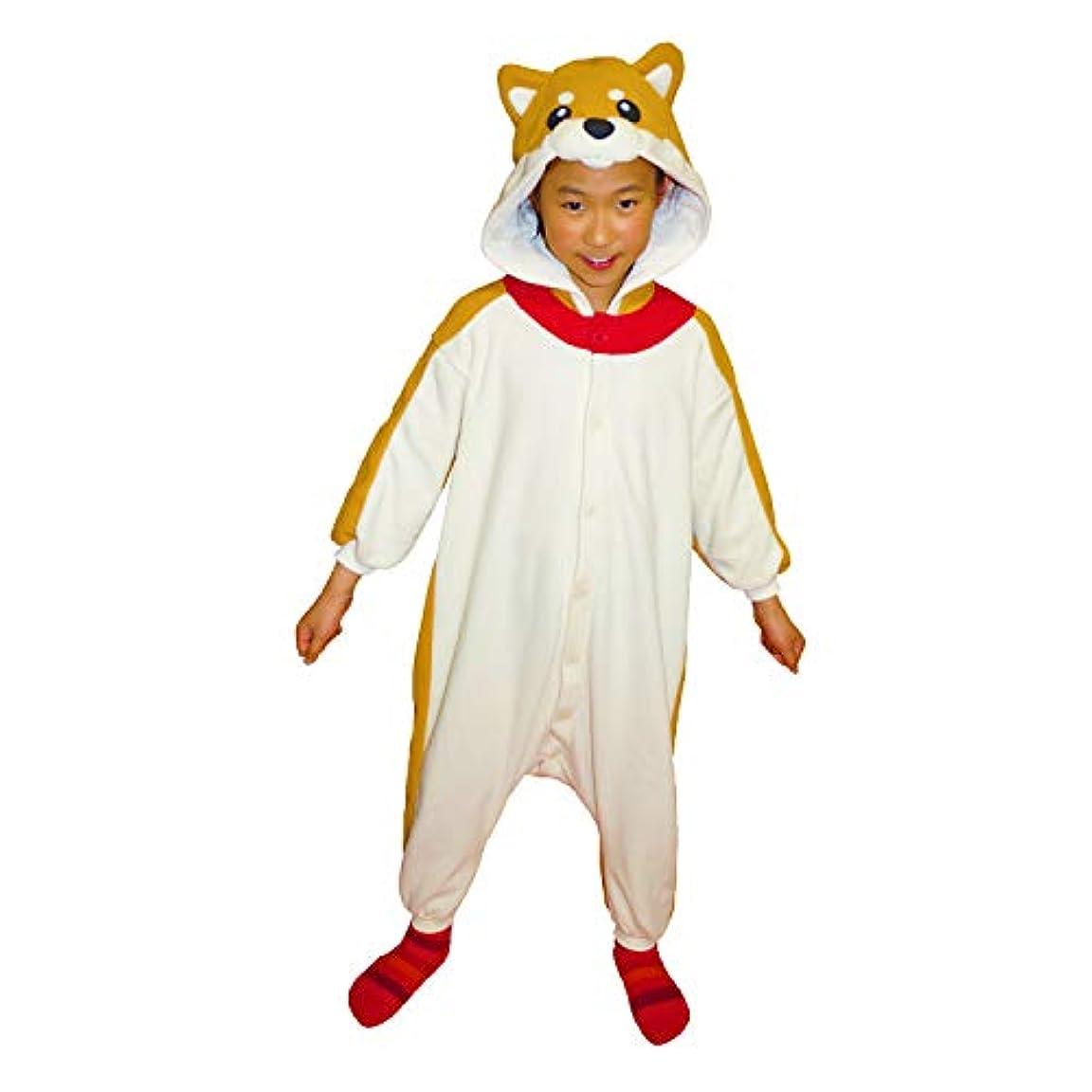 おとこ汚染された写真を撮る2868H 着ぐるみ 子供用 フリース アニマル【 柴犬/130cm 】