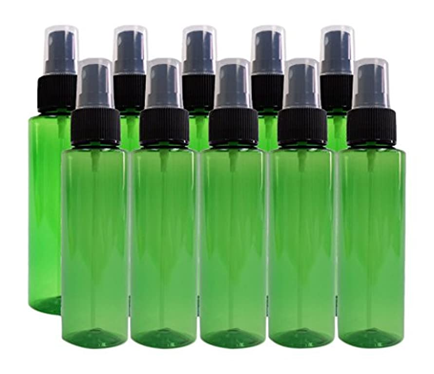 汚すスキーム丁寧ease 保存容器 スプレータイプ プラスチック 緑色 100ml×10本