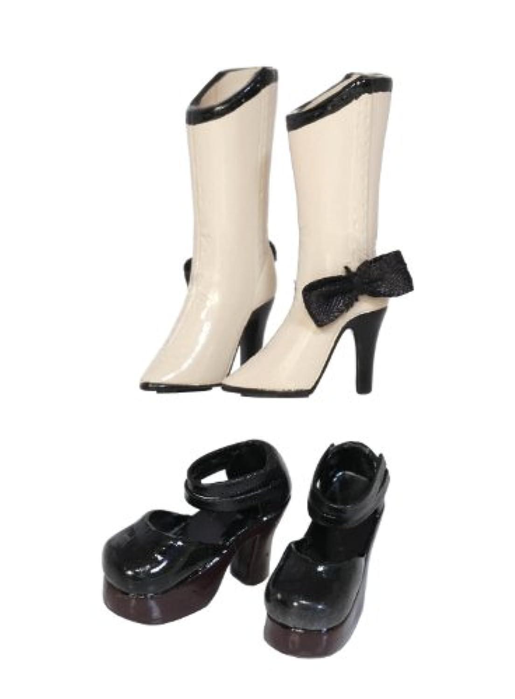 グルーヴ Shoes Selection ブーツ (ベージュ) ×ストラップシューズ (ブラック) MS-002
