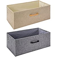 CSQ 布アート収納ボックス、ポリエステル模造麻、カバー仕上げボックスなし家庭大瓦礫貯蔵ボックス仕上げボックス54 * 28 * 21CM 箱とバスケット (色 : A)