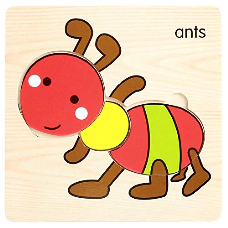 ptk12 子供用木製玩具 赤ちゃん 3Dパズル ジグソーパズル 木製玩具 アニメパズル 子供用教育玩具 パズル