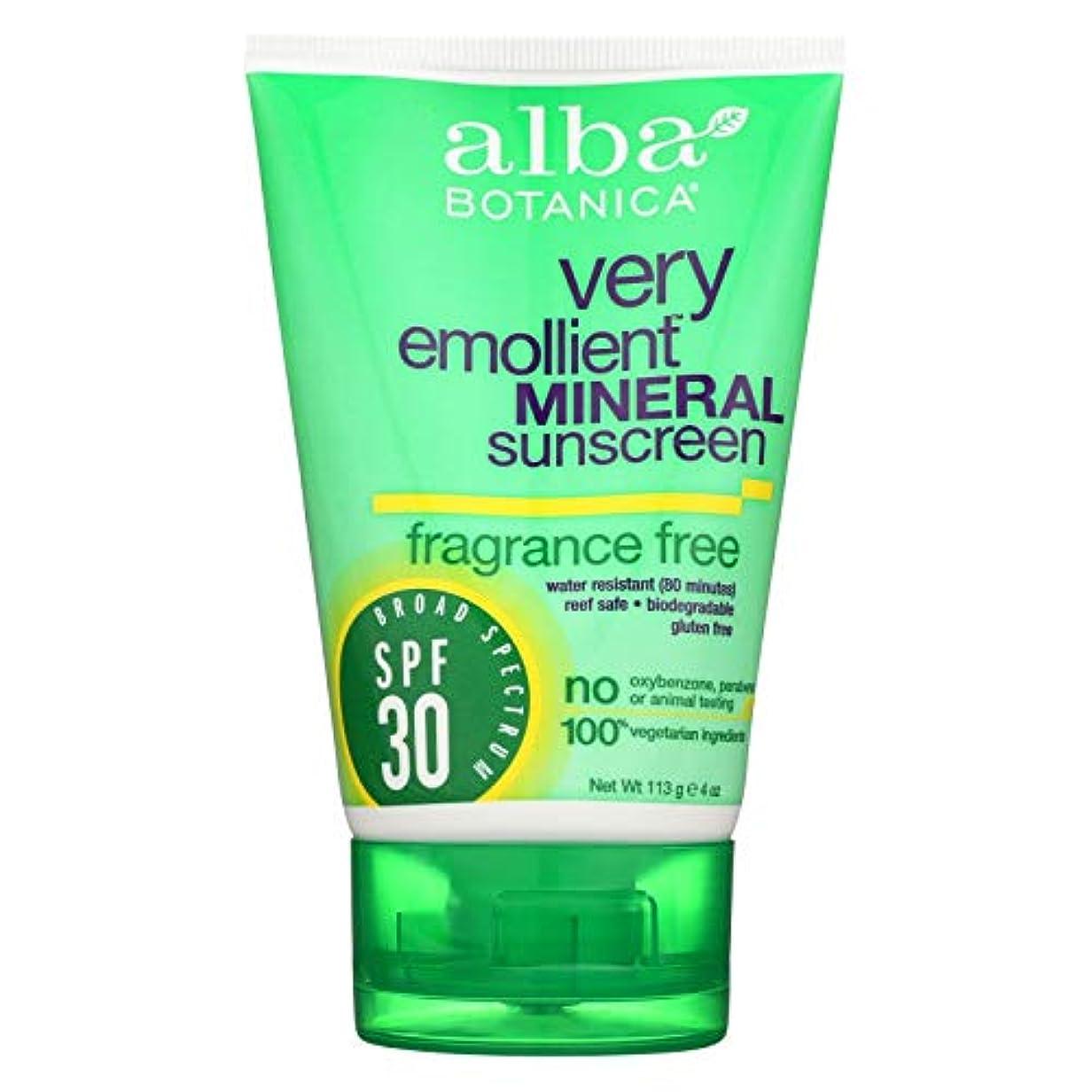 ビルダーロック解除変更可能Alba Botanica 敏感なミネラル日焼け止め無香料、SPF 30 4オズ