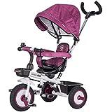 子供用三輪車、散歩用三輪車、手押し用三輪車を回すことができます ( Color : 1 )