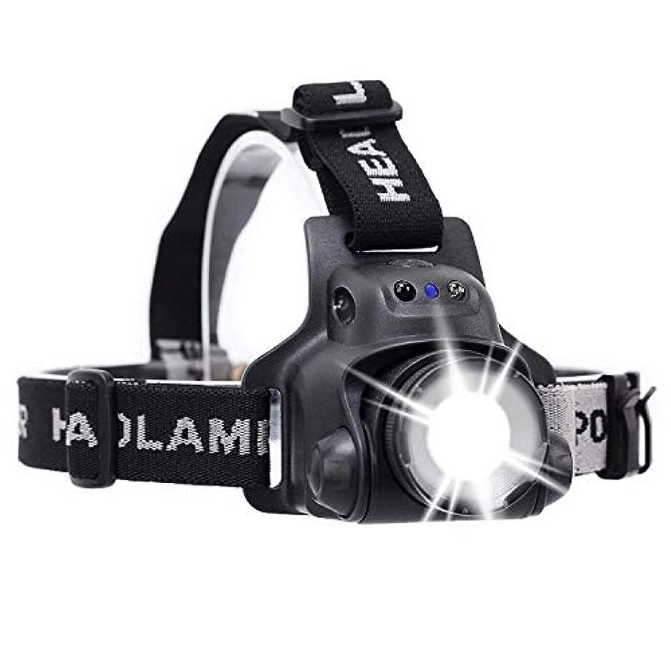 ちょっと待って航空便間欠DGXINJUN ヘッドライト LED アウトドア 現場作業用 夜釣り ヘッドランプ キャンプ 登山 釣り 超強力 6500-7000K 赤外線センサー搭載 軽量化USB充電 led照明