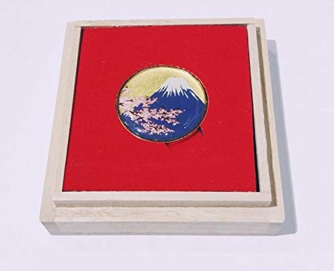 西部蚊海洋Wakacho Maki-E ゴルフボールマーカー Mt.Fuji & Cherryblossom (ゴールド) MGM-2