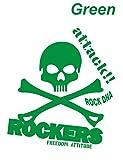 ノーブランド 緑 貼るだけでかっこいい ドクロ スカル ROCKERS シール ステッカー