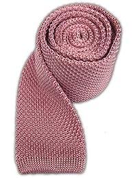 Theタイバー100%シルクニットベビーピンクExtra Long Tie
