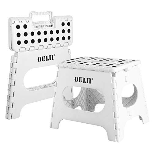 OULII 踏み台 2個セット 折りたたみチェア 高さ27cm 耐荷重100kgワンタッチ収納 持ち運び便利 滑り止め付 安定性高い 大人/子供兼用