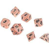 SunniMix 7個 亜鉛合金 多面体 ダイス 骰子 サイコロ 全9タイプ - #4