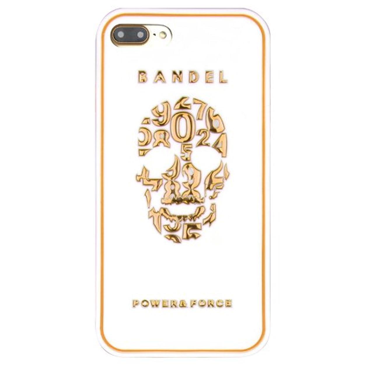 参照控えるどうやらバンデル(BANDEL) iPhone7Plusケース スカル ホワイト×ゴールド [iPhone7Plus用シリコンケース]
