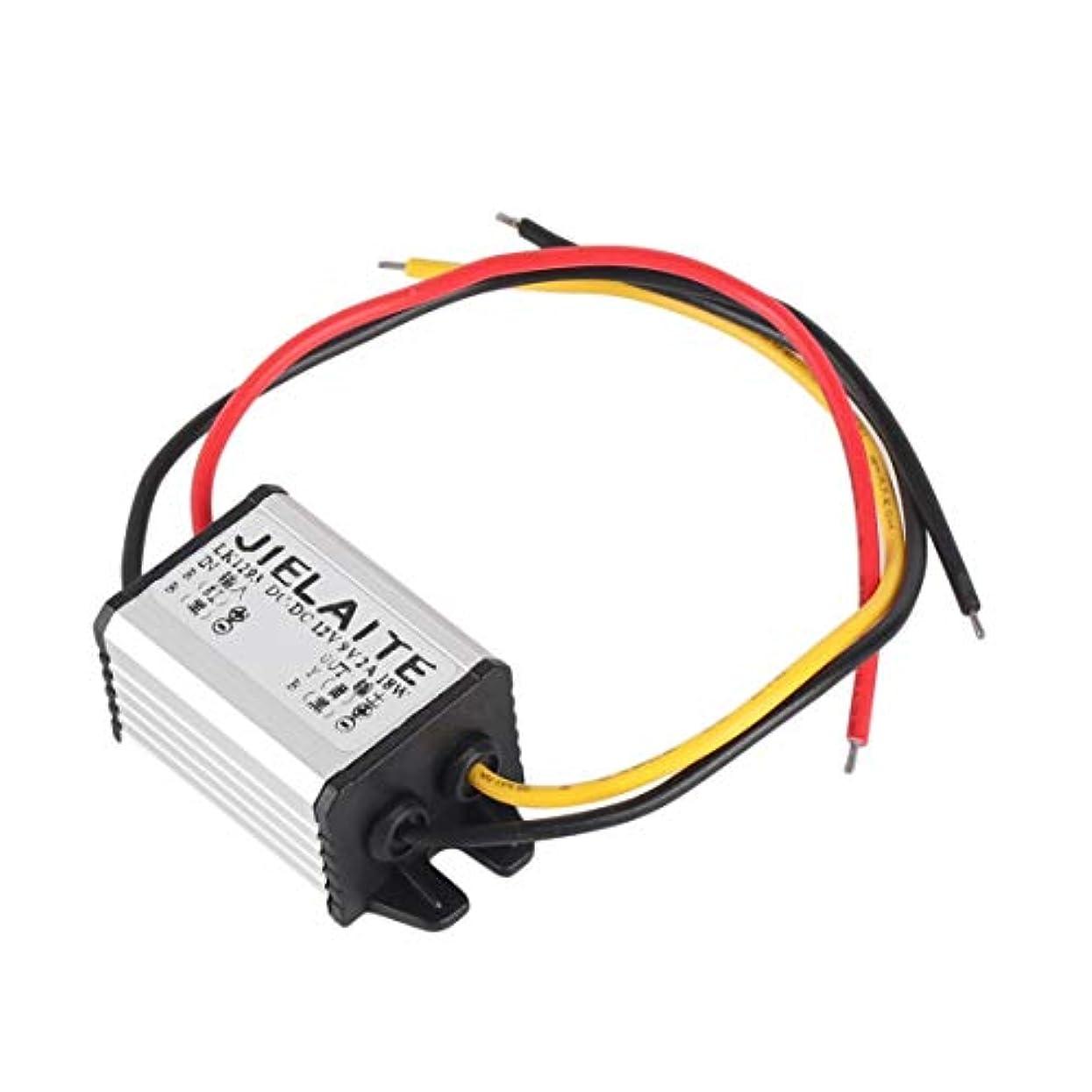迫害保守的記憶防水DC-DCコンバータ12Vから3-9V 2A 3A自動車用電源モジュール供給銅線コード降圧電圧レギュレータ-シルバー&ブラック12Vから9V 2A