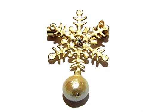 ルチカ Luccica 『 snow cristal ブローチ 』(ゴールド 小) アクセサリー カワイイ クリスマス 雪 シーズン 季節 冬 結晶 綺麗 模様 オシャレ ファッション 華やか エレガント 上品