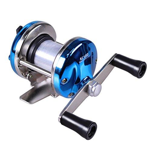 AOTSURI(アオツリ) リール 穴釣り 糸付ベイトリール 釣りライン付け ブルー