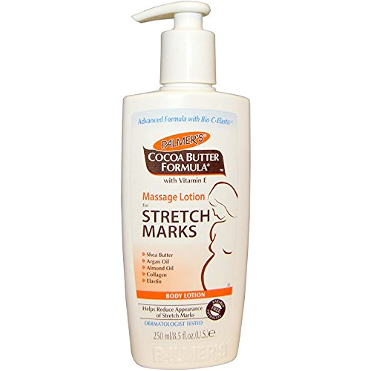 食料品店スタック挨拶するPalmer's Cocoa Butter Formula Massage Lotion For Stretch Marks with Vitamin E and Shea Butter Women Body Lotion...