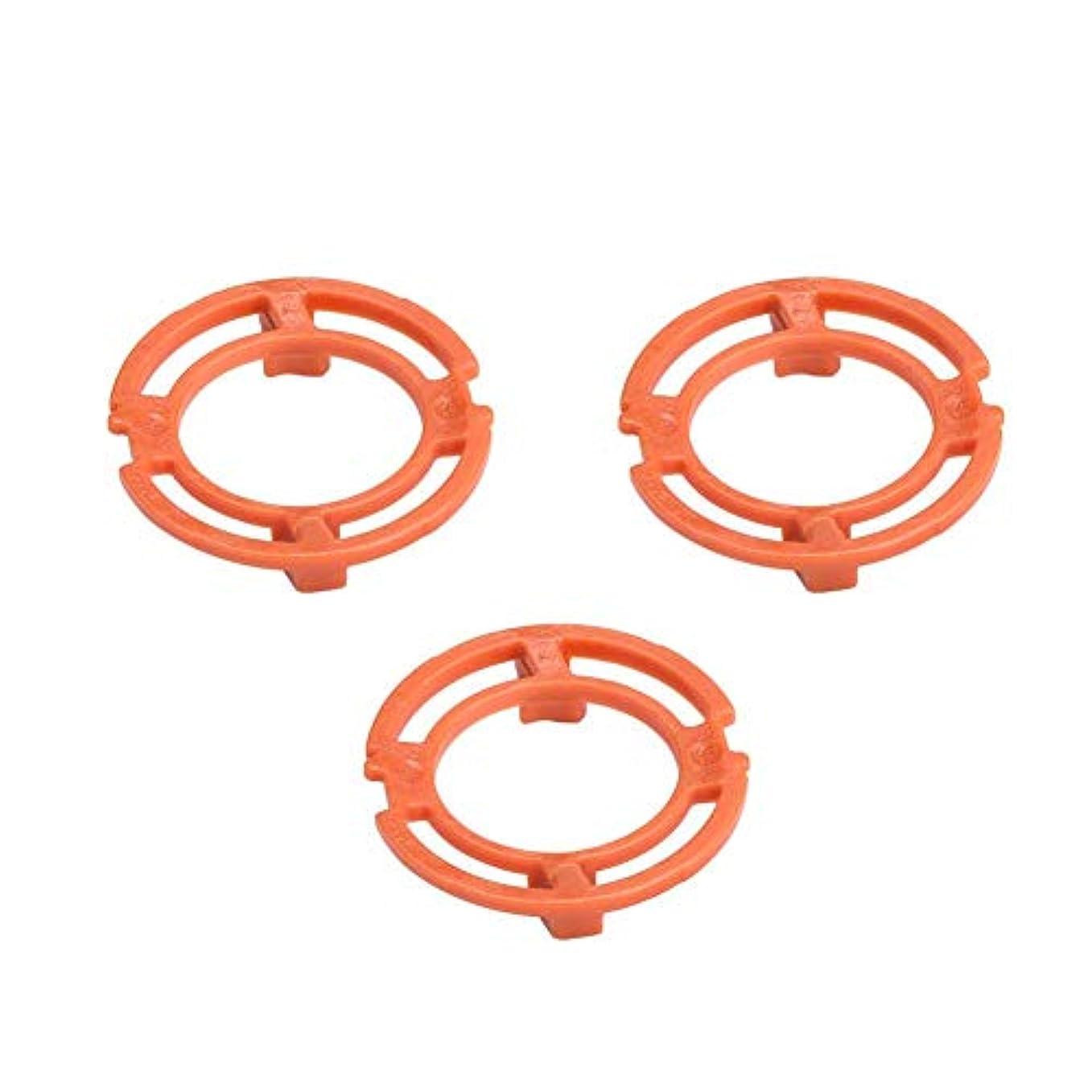 スリップシューズ取り囲むスピンシェーバーヘッドフレームホルダーカバー ブレードフレーム ブレード保持リング Philips Norelco 7000 9000 RQ12シリーズに適用 シェーバー用消耗品 アクセサリ 交換部品 オレンジ 3PCS