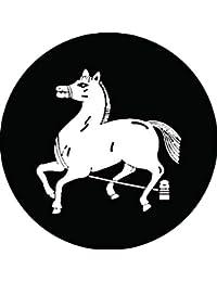 家紋シール 片杭繋ぎ馬紋 布タイプ 直径40mm 6枚セット NS4-2828