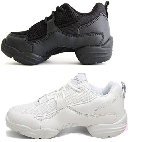 【 ミニヨン 】 ダンス スニーカー チア ジャズ ダンス シューズ【カペジオ】Fiece Sneaker 通気性・速乾性に優れたダンス用スニーカー ブラック・ホワイト