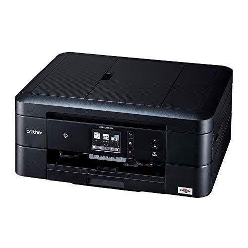 ブラザー A4インクジェット複合機 DCP-J982N-B (黒モデル ADF 有線・無線LAN 手差しトレイ 両面印刷 レーベル印刷)