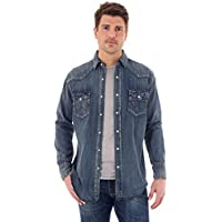 Wrangler Men's Authentic Cowboy Cut Work Western Long-Sleeve Firm Finish