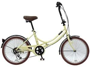 CHACLE(チャクル) ノーパンク自転車 折りたたみ[20インチ 外装6段変速] アイボリー