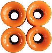 RADISSY Skateboard Soft Wheels, Diameter 2.4 x Width 1.8 inches (6 x 4.5 cm), Set of 4
