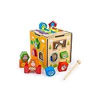 GLJJQMY 形状マッチング知能箱木のおもちゃ男性女の赤ちゃん0〜3歳発達幼児子供14.5×14×14センチ 子供の教育玩具