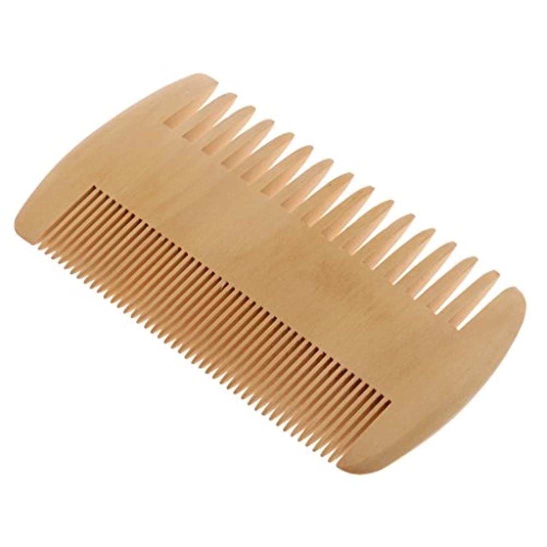 Toygogo ヘアコーム 木製コーム 木製櫛 ポケットコーム マッサージの櫛 帯電防止 2倍 密度の歯