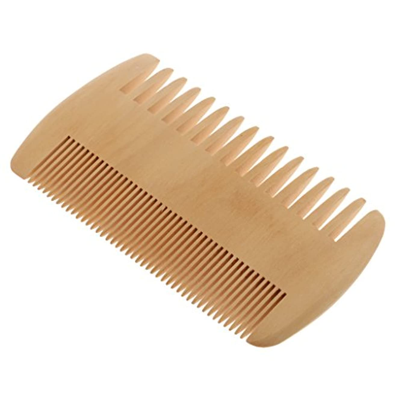 満足できるうなり声対角線Toygogo ヘアコーム 木製コーム 木製櫛 ポケットコーム マッサージの櫛 帯電防止 2倍 密度の歯
