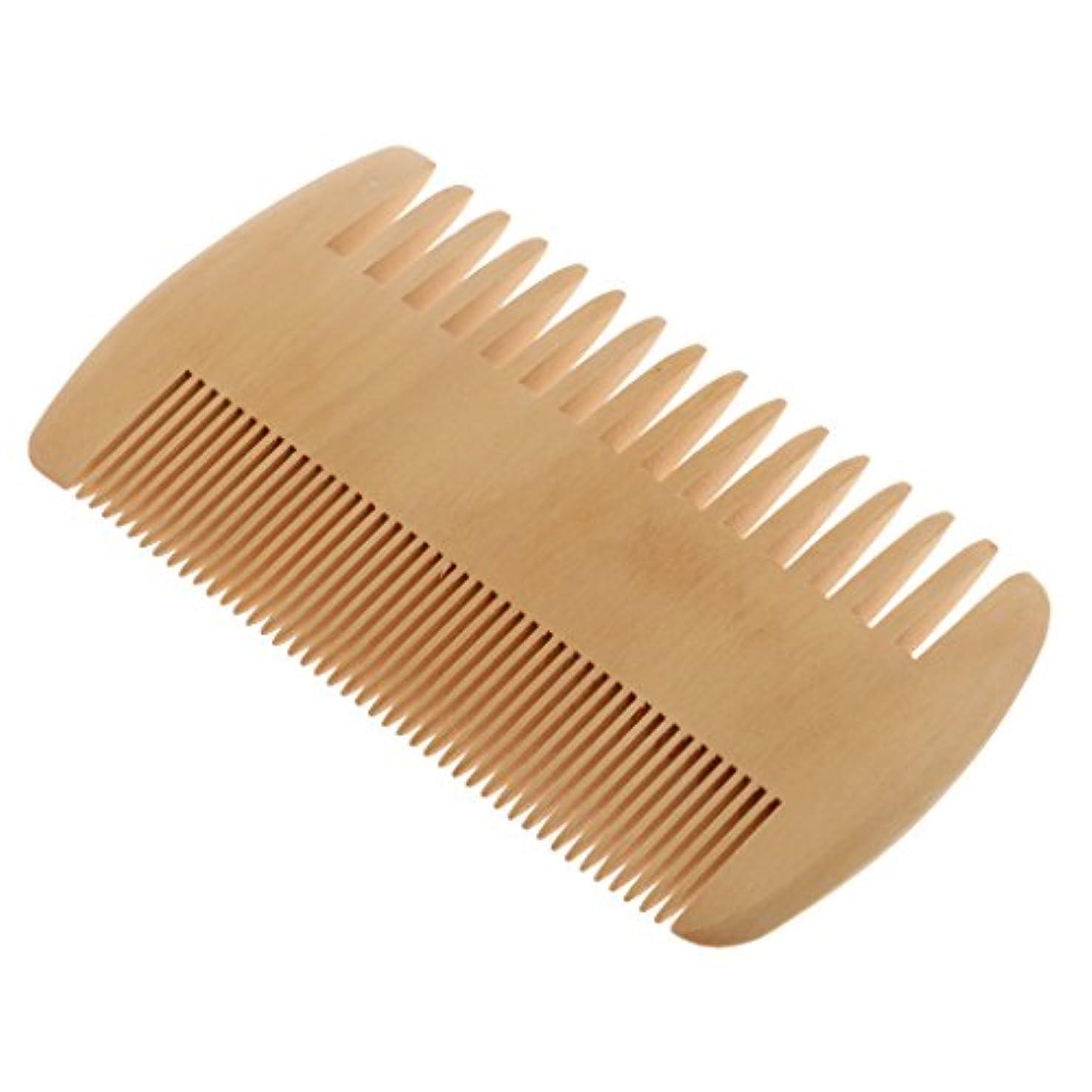質素な地球失敗Toygogo ヘアコーム 木製コーム 木製櫛 ポケットコーム マッサージの櫛 帯電防止 2倍 密度の歯