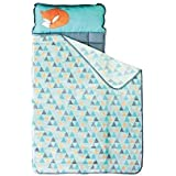 Toddler Nap Mat - Portable Washable Plush Blanket & Padded Mattress (Mountain Fox) by Homezy