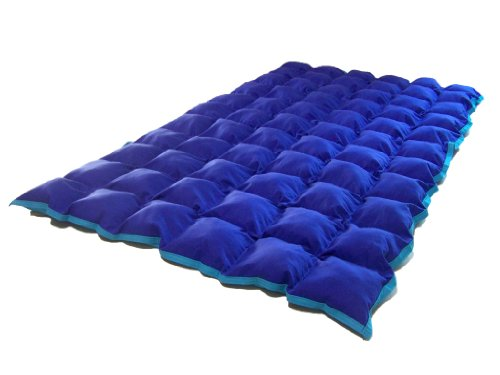 SensaCalm Therapeutic Adult-Length Weighted Blanket - Dazzling Blue with Scuba Blue-16 lb -for 130 lb User by SensaCalm