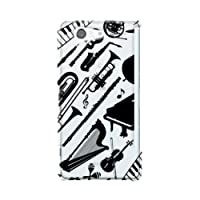 docomo Xperia Z3 Compact(SO-02G) 楽器 スマホケース スマホ ケース ハード カバー 携帯ケース 携帯カバー q0724-j0071(1-ブラック)