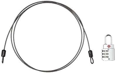 [コンサイス] ワイヤー付3桁ダイヤル式TSAロック 6.3cm kg 509929 SL シルバー
